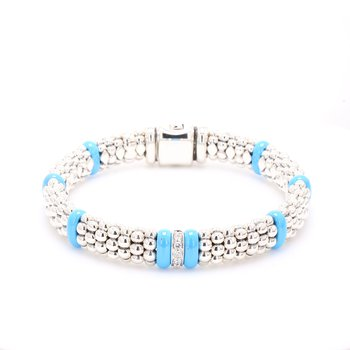 Diamond Blue Caviar Bracelet