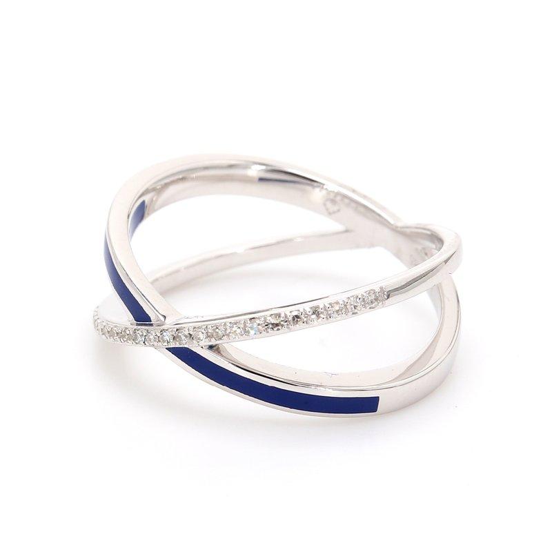 "Spicer Greene Diamond ""X"" Ring"