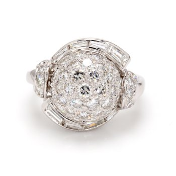 Diamond Domed Ring