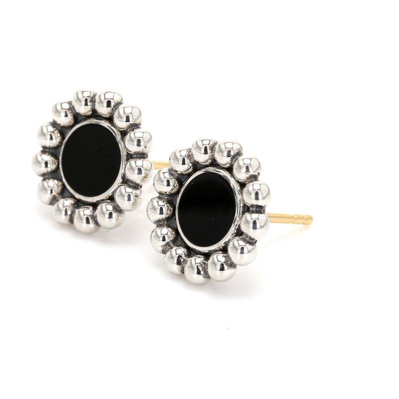 Lagos Black Onyx Stud Earrings