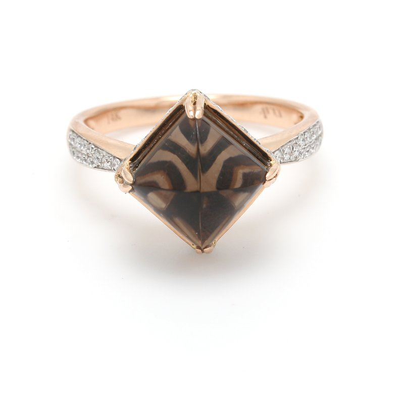 Color by Spicer Greene Solitaire Smoky Quartz Ring