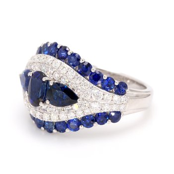Sapphire Dome Ring
