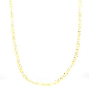 Citrine Beaded Strand Necklace