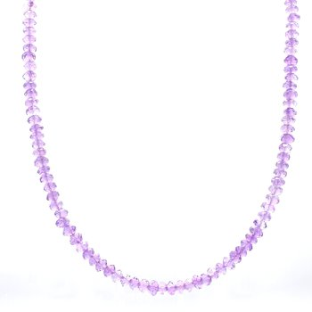 Amethyst Beaded Strand Necklace