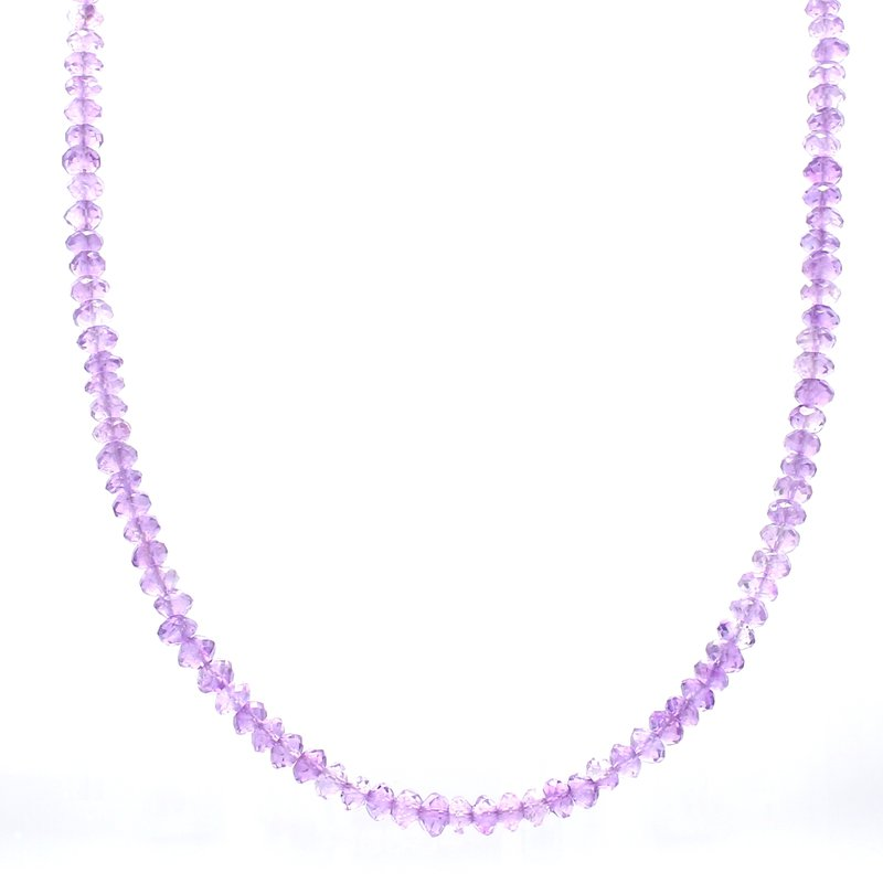 Color by Spicer Greene Amethyst Beaded Strand Necklace
