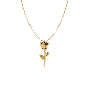Valentine's Day Rose Pendant (18k Gold)