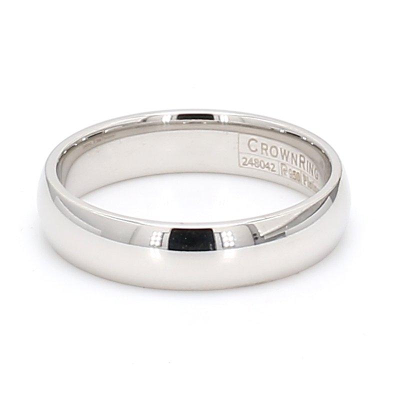 CrownRing 5mm Platinum Wedding Band