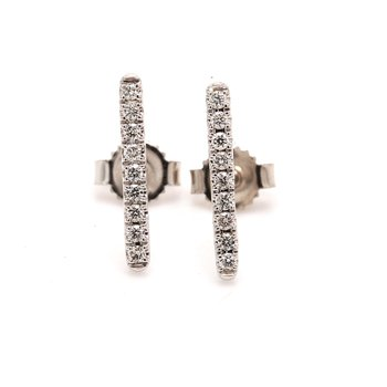 Diamond Stud Bar Earrings
