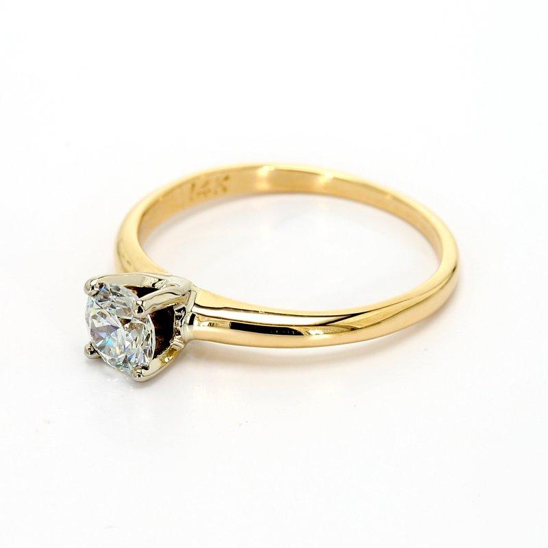 Estate Round Brilliant Cut Solitaire Engagement Ring