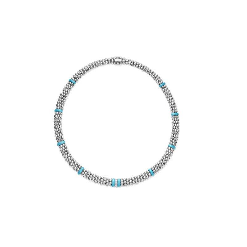 Lagos Blue Caviar Diamond Necklace