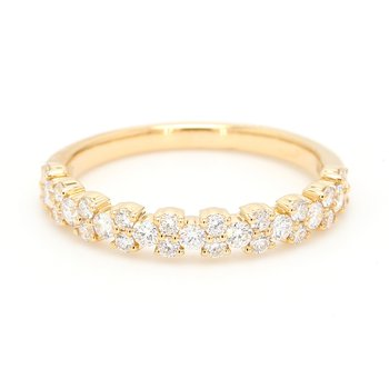 Confetti Diamond Wedding Band