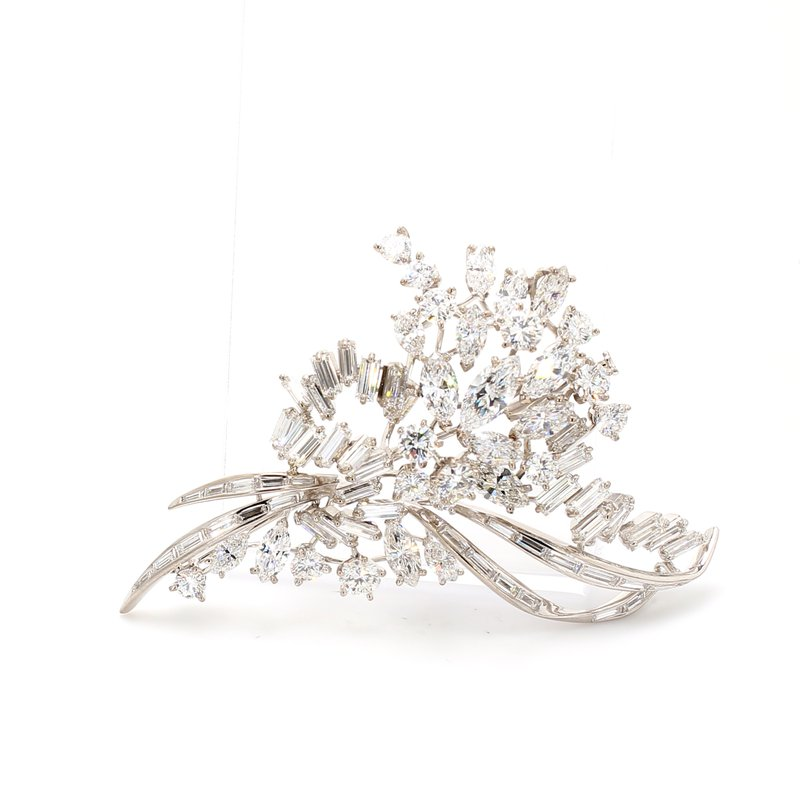 Estate Free Form Diamond Pin