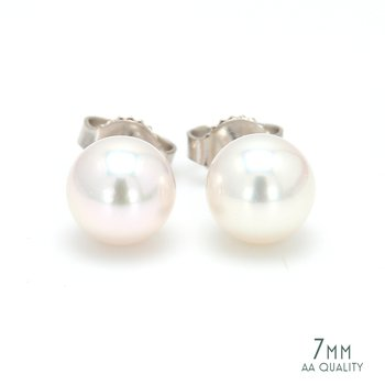 Akoya Cultured Pearl Stud Earrings
