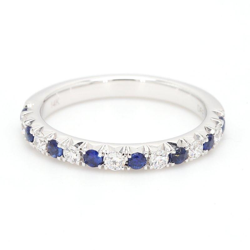 Spicer Greene Diamond & Sapphire Wedding Band