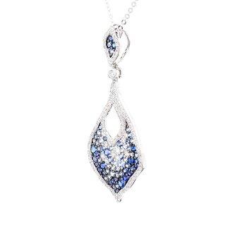 Sapphire Pave Pendant
