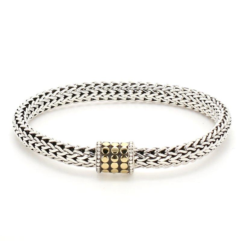 John Hardy Gold Dot Silver Bracelet
