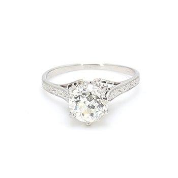 Old European Cut Vintage Solitaire Engagement Ring