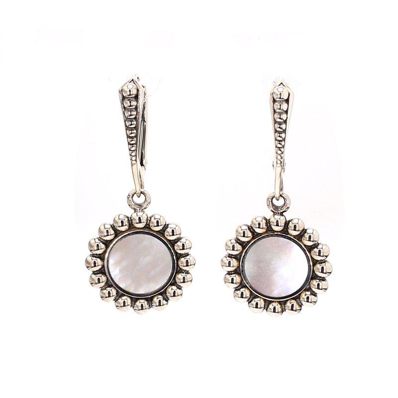 Lagos Mother of Pearl Drop Earrings