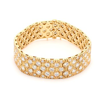 Diamond Honey Comb Bracelet