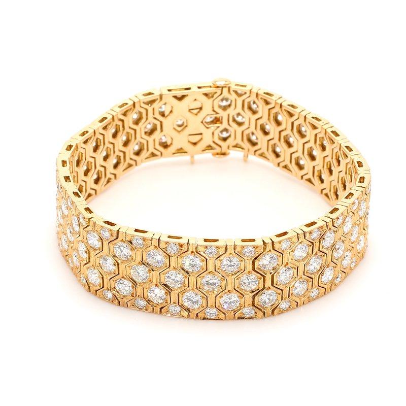 Estate Diamond Honey Comb Bracelet