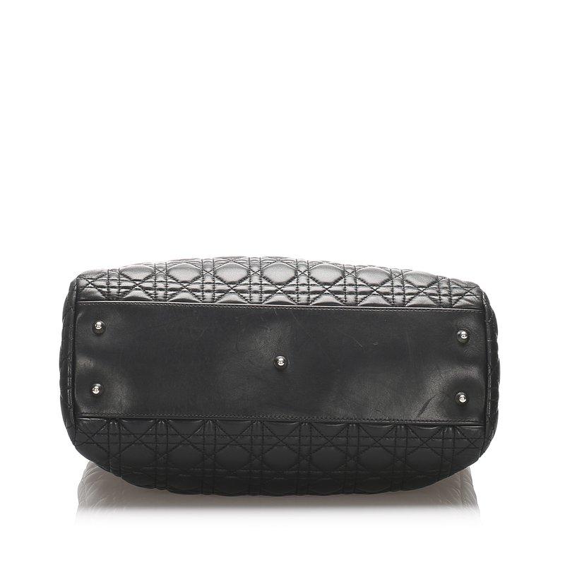 Pre-Owned Luxury Handbags Dior Cannage Shopper