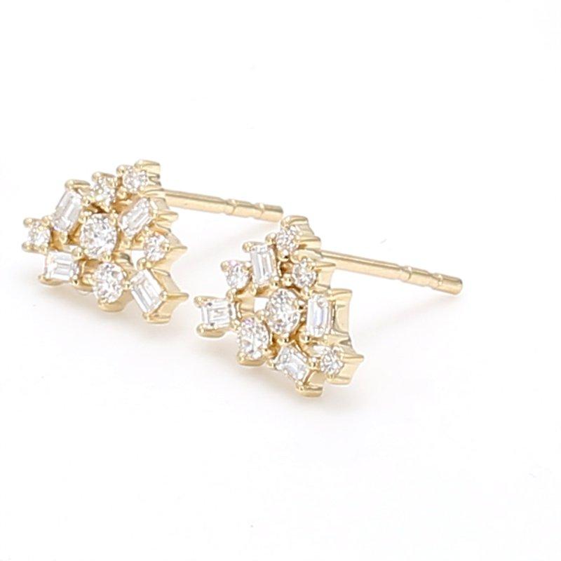 Spicer Greene Diamond Cluster Earrings