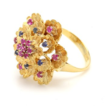 Sapphire & Ruby Ring