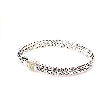 Peridot Chain Bracelet