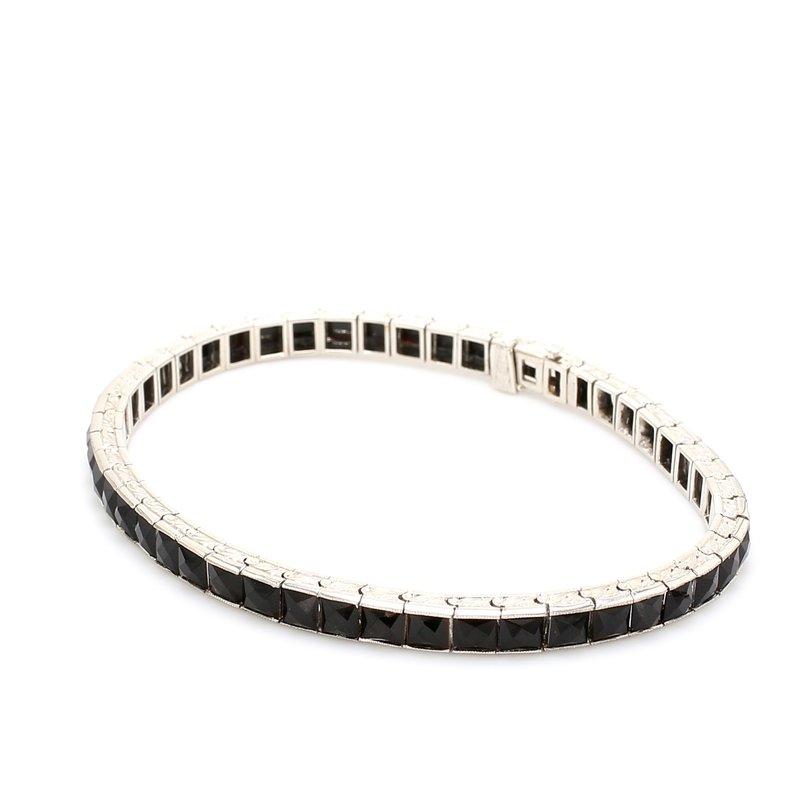 Estate Black Onyx Tennis Bracelet
