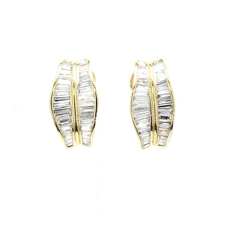 Estate Diamond Omega Back Earrings