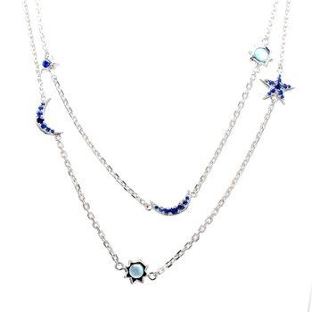 Topaz & Sapphire Necklace