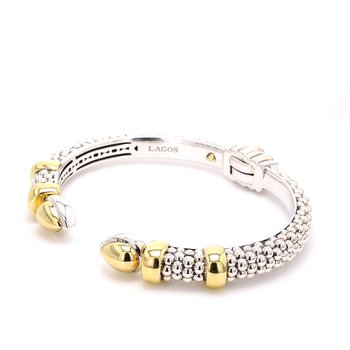 Silver & Gold Bangle Bracelet