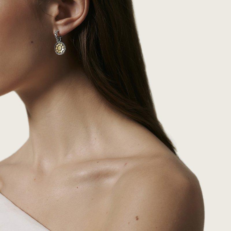 John Hardy Two-Tone Dot Earrings
