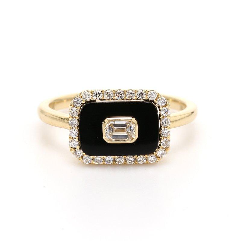 Spicer Greene Onyx & Diamond Ring