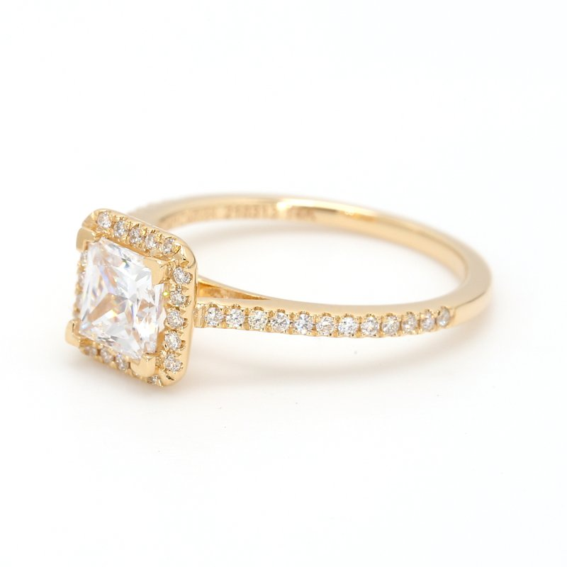 Noam Carver Halo Semi Mount Engagement Ring