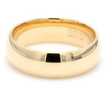 7mm 14 Karat Gold Wedding Band