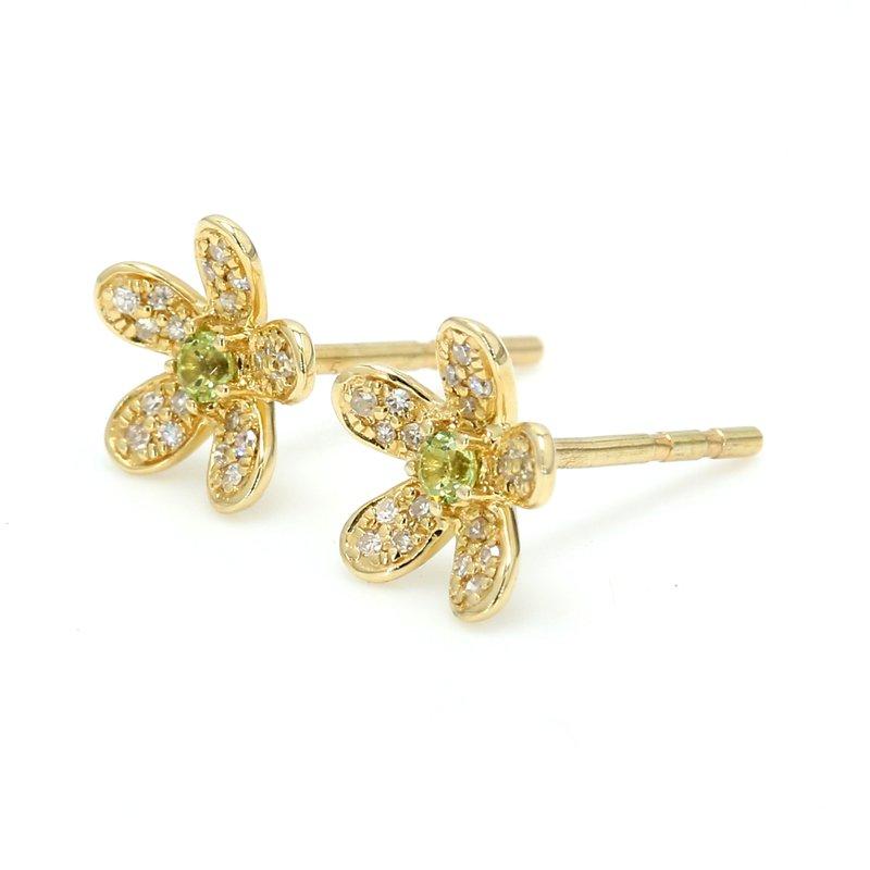 Spicer Greene Peridot Flower Earrings