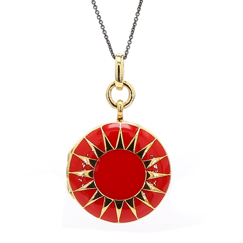 Monica Rich Kosann Red Enamel Locket