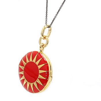 Red Enamel Locket