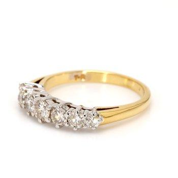 7 Stone Diamond Wedding Band
