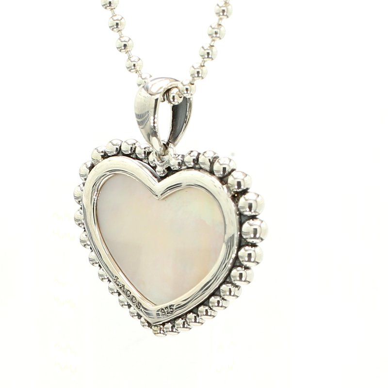 Lagos Mother of Pearl Heart Pendant