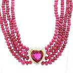 Estate Tourmaline Heart Necklace