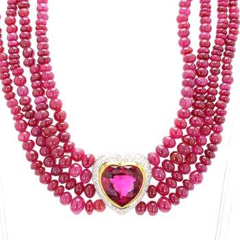 Tourmaline Heart Necklace