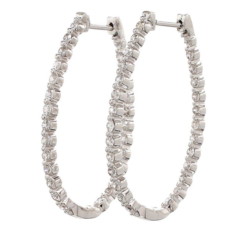 Everyday Diamonds Diamond Hoop Earrings