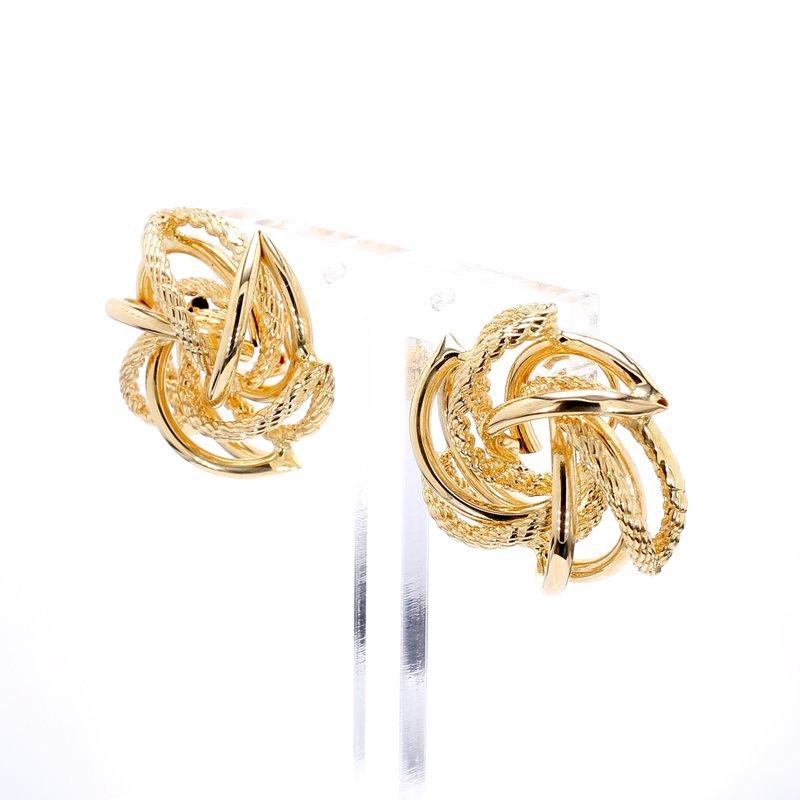 Estate Omega Back Earrings