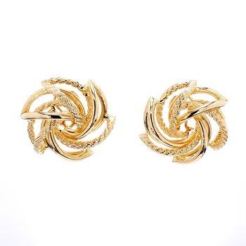 Omega Back Earrings