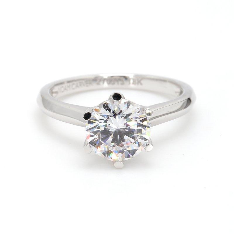 Noam Carver 14 Karat Gold Engagement Ring Mounting
