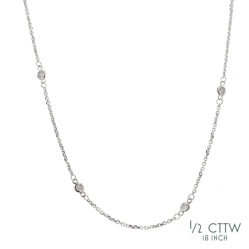 Everyday Diamonds Diamond Station Necklace