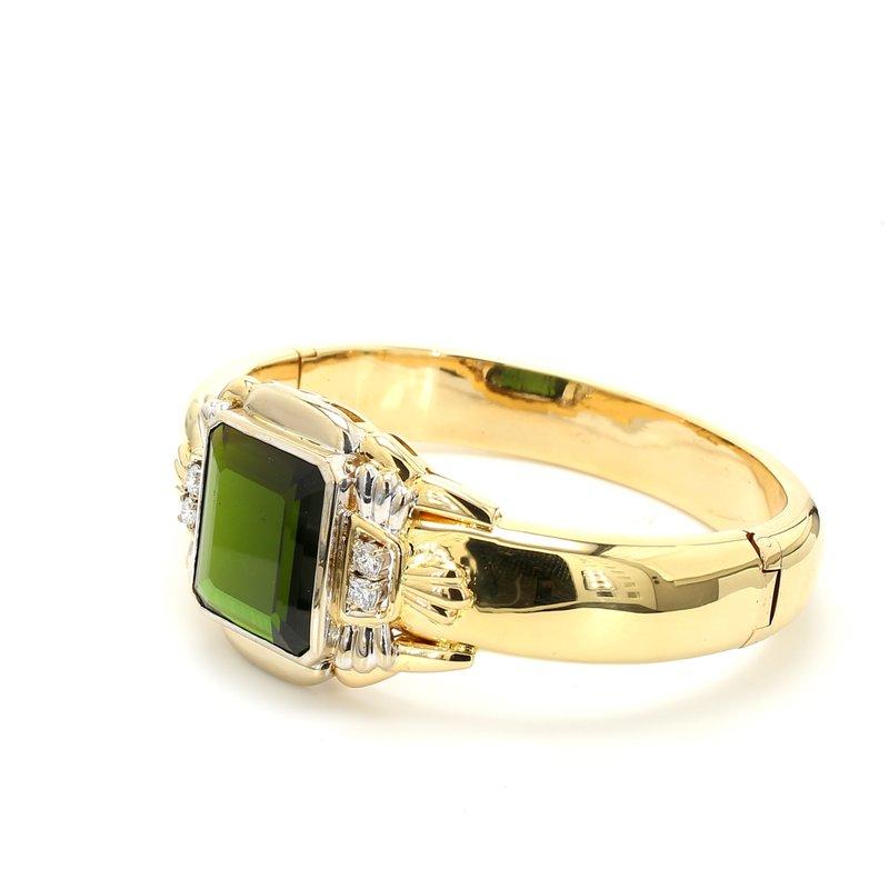 Estate Tourmaline Bangle Bracelet