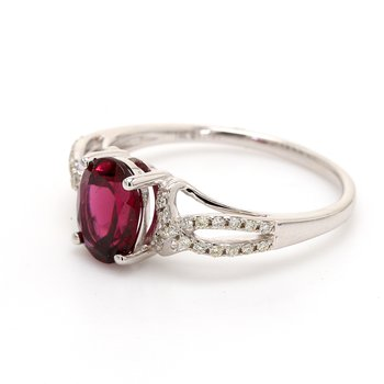Garnet Solitaire Ring